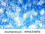 merry christmas and happy new... | Shutterstock . vector #494654896