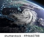 earth at night from orbit with... | Shutterstock . vector #494660788