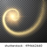 golden spiral holiday vector... | Shutterstock .eps vector #494662660