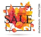big autumn sale 3d style... | Shutterstock .eps vector #494667184