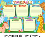school timetable kids baby... | Shutterstock . vector #494670940