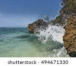 Seaside View With Huge Rocks...