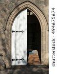 Old Church Door In Sunlight