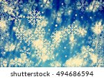 merry christmas and happy new... | Shutterstock . vector #494686594