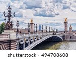 pont alexandre iii  alexandre... | Shutterstock . vector #494708608
