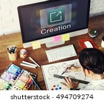 Small photo of Creation Design Digital Gadget Invention Graphic Concept