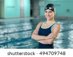 Portrait Of A Fit Swimmer Woma...