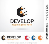 develop logo template design... | Shutterstock .eps vector #494711128