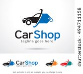 car shop logo template design... | Shutterstock .eps vector #494711158
