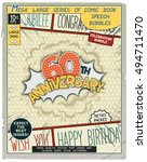 60 th anniversary. happy... | Shutterstock .eps vector #494711470