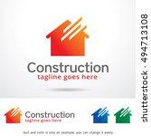 construction logo template... | Shutterstock .eps vector #494713108