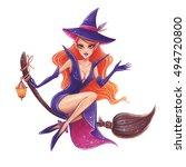 halloween hand drawn... | Shutterstock . vector #494720800
