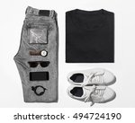 man's clothing   t shirt jean...   Shutterstock . vector #494724190