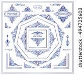vector set of vintage elements... | Shutterstock .eps vector #494725603