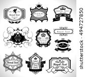vintage labels set   isolated... | Shutterstock .eps vector #494727850