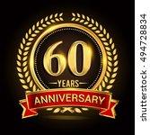 celebrating 60 years... | Shutterstock .eps vector #494728834