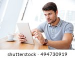 young businessman in casual...   Shutterstock . vector #494730919