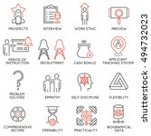 vector set of 16 icons related... | Shutterstock .eps vector #494732023