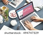 gift card voucher coupon... | Shutterstock . vector #494747329
