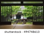 view from inside on japanese... | Shutterstock . vector #494748613
