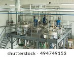 tanks for chemical mixing on... | Shutterstock . vector #494749153