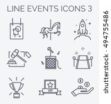 thin line icons of events and... | Shutterstock .eps vector #494755486