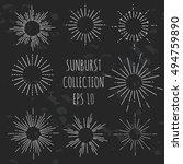 sunburst collection  design... | Shutterstock .eps vector #494759890