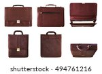 business bag set with isolated... | Shutterstock . vector #494761216