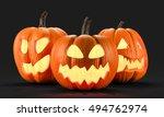 halloween pumpkins 3d rendering | Shutterstock . vector #494762974