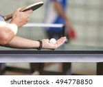 table tennis player serving ... | Shutterstock . vector #494778850