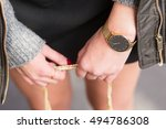 close up fashion details  young ...   Shutterstock . vector #494786308