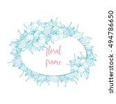 vector floral frame   Shutterstock .eps vector #494786650