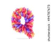 q letter logo formed by... | Shutterstock .eps vector #494787673