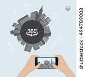 360 degree view in mobile.urban ... | Shutterstock .eps vector #494789008