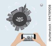360 degree view in mobile.urban ... | Shutterstock .eps vector #494789008