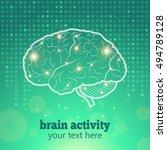 human brain logo neurology... | Shutterstock .eps vector #494789128