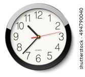 round wall clock without... | Shutterstock .eps vector #494790040