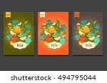 template packing green  black ... | Shutterstock .eps vector #494795044