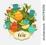 design tea packaging. vector... | Shutterstock .eps vector #494795050