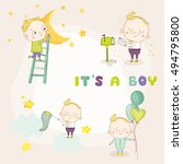 Set Of Cute Boy Illustrations....
