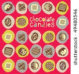 chocolate sweets  vector... | Shutterstock .eps vector #49480546