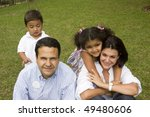 portrait of family  mom and dad ... | Shutterstock . vector #49480606