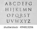 alphabet on stone background ... | Shutterstock . vector #494813206