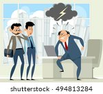 vector illustration of a boss... | Shutterstock .eps vector #494813284