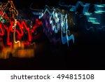 motion blurred lights  long... | Shutterstock . vector #494815108