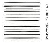 brush lines  brush strokes... | Shutterstock .eps vector #494817160