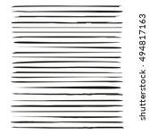brush lines  brush strokes... | Shutterstock .eps vector #494817163