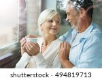 senior couple at home  | Shutterstock . vector #494819713