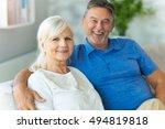 senior couple at home  | Shutterstock . vector #494819818