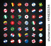 circle flags of the world | Shutterstock .eps vector #494820154